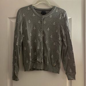 Tommy Hilfiger grey and white anchor cardigan